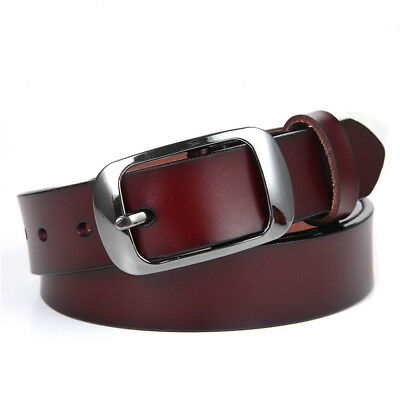 Pin Buckle Cowhide All-match Vintage Girdle Leather Belt Belts Waistband