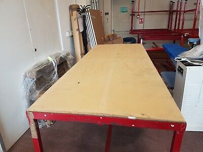 Pattern cutting tables - Metal frame with 1 piece wooden top