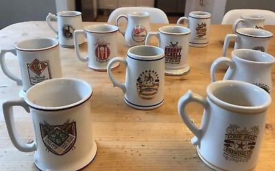 """Franklin Mint """"the Great American Breweries"""" Miniture Mugs"""