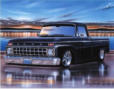 1965 Ford F100 Styleside Pickup Classic Truck Art Print w/ Color Options