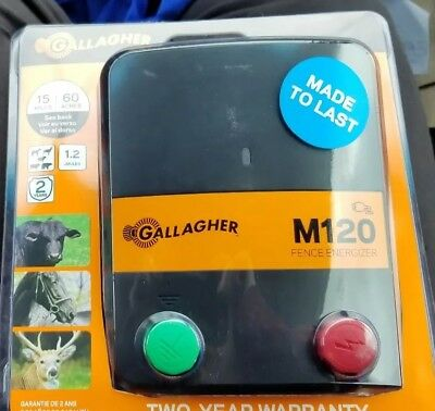 Gallagher North America, M120, 110V Fence Energizer  1.2 Joules G330434