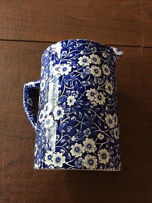 CALICO Blue Measuring Pitcher 24 oz Crownford China Stafford England