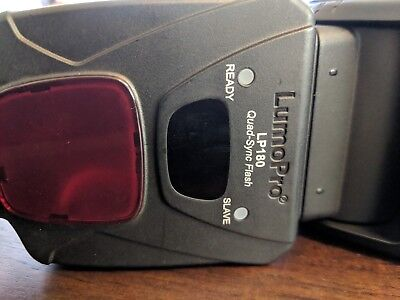 LumoPro LP180 Flash with Case & Stand - Fair Condition