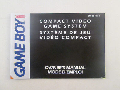 Nintendo GameBoy - Console Owner's Manual DMG-GB-FAH - Manual Only