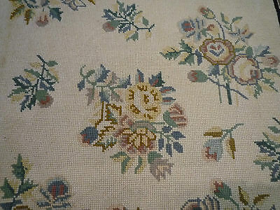 """Gorgeous Victorian style needlepoint rug ( 4ft.2"""" x 2ft.11"""" )"""