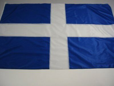 OLD Design GREEK Flag FULL SEWN ( NO PRINT ) -  2  SIZES TO CHOOSE FROM - GREECE