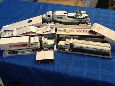 Hess Truck Collection, 3 Pieces. 1990, 1995 & 2010. Original Boxes.. Lot #4...