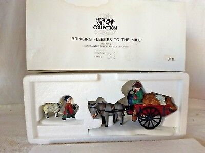 Dept 56 Dickens Village 1993 BRINGING FLEECES TO THE MILL 58190 RETIRED 1998