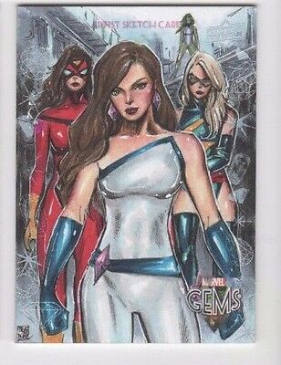 2016 Upper Deck Marvel Gems sketch NN Melike Acar