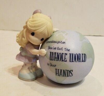 Precious Moments-My Granddaughter You've got the Whole World in Your Hands.