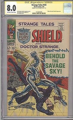 Marvel STRANGE TALES #165 CGC SS 8.0 OW-White Pages SIGNED by JIM STERANKO!