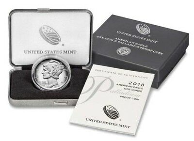 2018 American Eagle One Ounce Palladium Proof Coin: In Sealed Box From Mint!!!