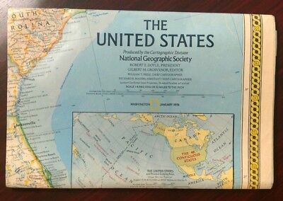 1978 National Geographic Map of the United States
