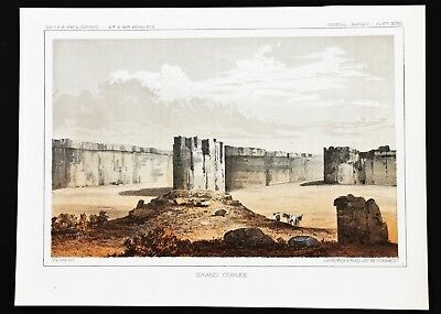 1860 Grand Coulee Washington Territory Lithograph PACIFIC RAILROAD SURVEY