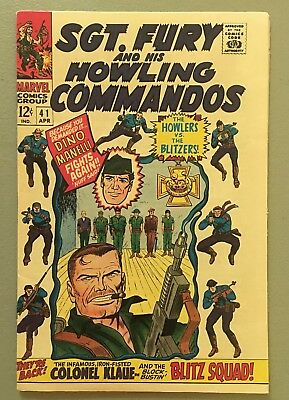 Sgt. Fury 41 VF/NM NICE! 1967 Howling Commandos, Stan Lee $3.95 unlimited Ship!
