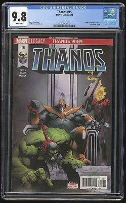 Thanos #15 (Marvel - 3/2018) CGC 9.8 NM+/MT Ghost Rider revealed as Frank Castle