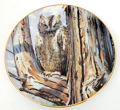 The Danbury Mint The Majesty Of Owls Perfect Disguise Plate # AA2916