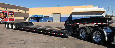 NO RESERVE  2017 WITZCO RGN Lowboy Trailer Pony Mtr Fontaine Peterbilt Kenworth