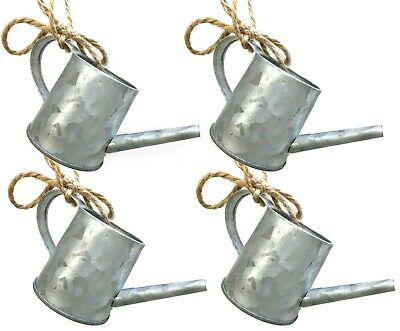Country Mini Watering Can Galvanized Metal Christmas Tree Ornament Farmhouse
