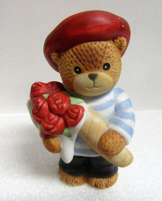 Lucy & Me ~ Italian ITALY Bouquet of Roses & Bread International Bear Figurine