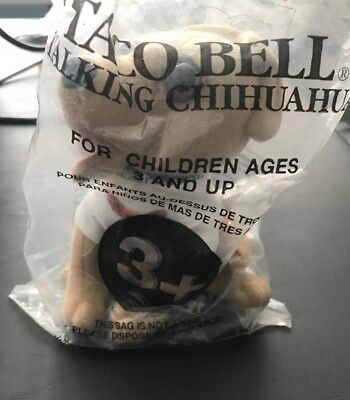 """6"""" Talking Taco Bell Chihuahua Plush Says """"how Cool Is This"""""""