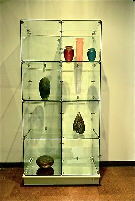 CUBE Glass Display Case 1780mm high x 830mm wide PICK-UP or DELIVERY Croydon.
