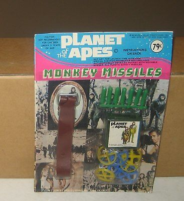 1974 Planet of the Apes Monkey Missles Launcher Toy New Sealed