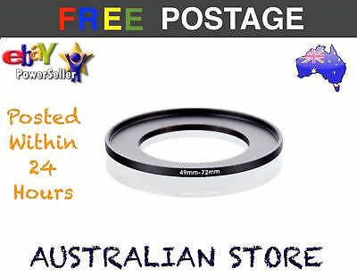 49mm-72mm 49mm to 72mm  49 - 72mm Step Up Ring Filter Adapter for Camera Lens