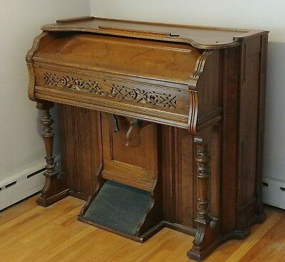 Antique Roesler-Hunholz Pump Organ (converted to electric)
