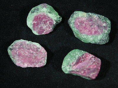 A Big Lot of 100% Natural Red RUBY Crystals With Zoisite! From Tanzania 78.3gr e