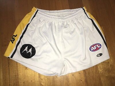 Rare 2005 Richmond Tigers Away Player Issue Shorts Afl Vfl Vintage Sz 34 Concept