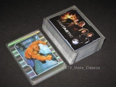 THE FANTASTIC FOUR (Marvel Movie) © 2005 Complete 60 Celz & 12 Holo Card Set