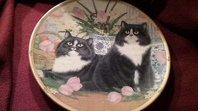 1995 LENOX ENGLISH COUNTRY CATS PLATE COLLECTION ANNE MORTIMER Bib&Tucker