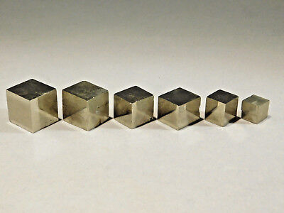 Lot of Small Nice AAA 100%Natural Graduated PYRITE Crystal Cubes! Spain 85.8gr e