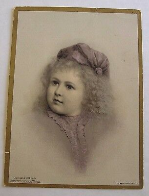 Larger Sized Victorian Trade Card, Rumford's Chemical Works, Baking Powder