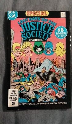 DC Comics Last Days of the Justice Soceity of America Special #1 (1986) FN
