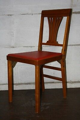 Leg O Matic Folding Chair, One Folding Red Chair, Estate Sale Find