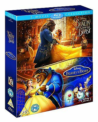 Beauty and the Beast 1 + 2 Pack [Animated + Live Action] (Blu-ray, 2 Discs) NEW