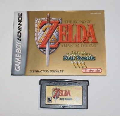 Legend of Zelda: A Link to the Past (Nintendo Game Boy Advance 2002) with Manual