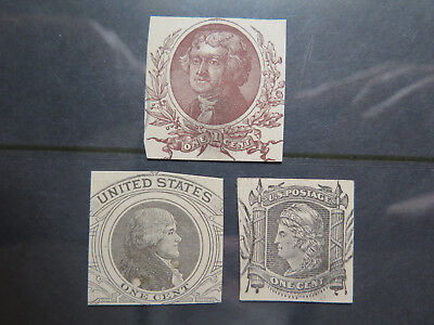 3 VARIOUS UNITED STATES POSTAGE STAMPS in NICE COLLECTABLE CONDITION c1900