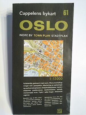 Vintage Map Of Oslo 1968