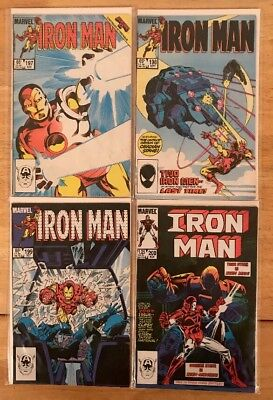 IRON MAN #197-200 (1985) VF Bagged & Boarded
