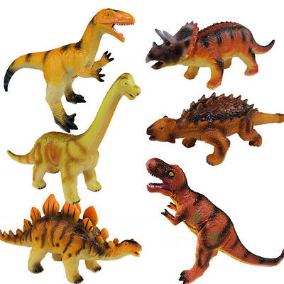 Large Soft Rubber Stuffed Dinosaur Toy Model Action Figures Play For Kid KU