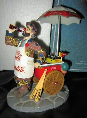 "Emmett Kelly Coca Cola ""Things Go Better With Coke"" Figurine 1996 Number #1153"