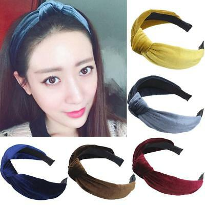 Womens Hair Band Hoop Headband Twist Hairband Bow Knot Cross Tie Velvet Headwrap