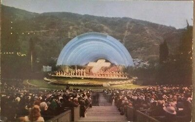 Vintage Postcard Famous Hollywood Bowl, Easter Service, Hollywood California