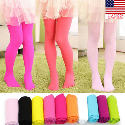 US Solid 8 Color Baby Toddler Infant Kids Girls Warm Tights Stockings Pantyhose