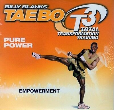 Billy Blanks Tae Bo Cardio Kickboxing DVD - T3 PURE POWER - EMPOWERMENT!