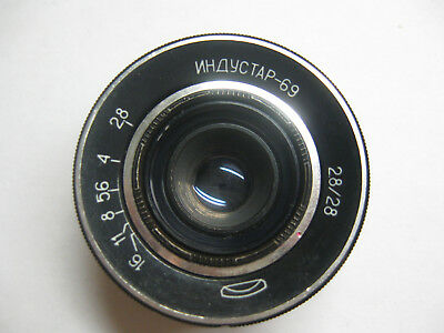 INDUSTAR 69 LENS 2.8/ 28mm M39 Wide Angle