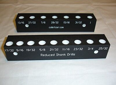 Reduced Shank Drill Bits Storage Rack Wall Mounted marked labeled 32nds set 2KD2